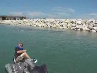 Toy RC Boat running in the harbor again from:DotComd