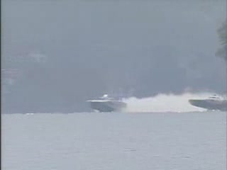 Cat Speedboat Flips and rights itself!! WOW!! from:Dotcomd